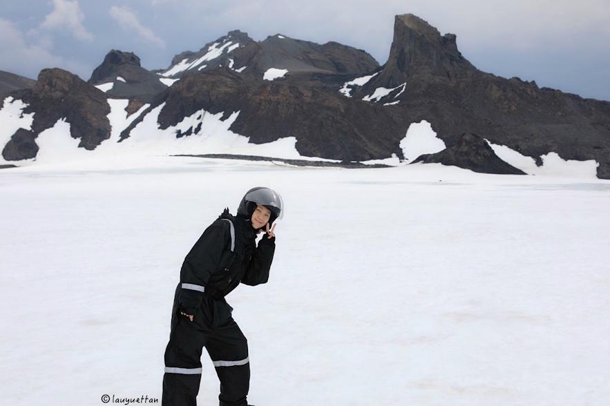 冰島朗格冰川上景色