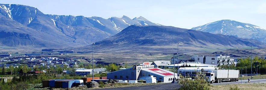 Mosfellsbaer is one of the towns on the outskirts of Reykjavik.