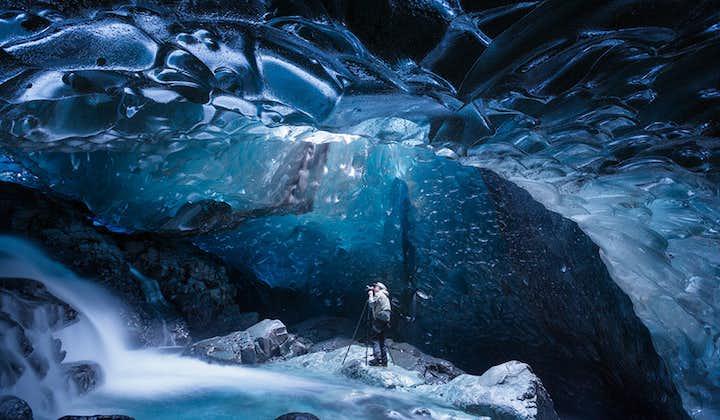 8日冬季摄影团 追极光拍蓝色冰洞