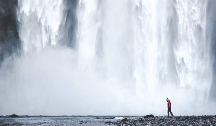 Get up close to Skogafoss waterfall on Iceland's South Coast.