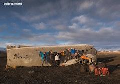 Restos del accidente del avión DC3