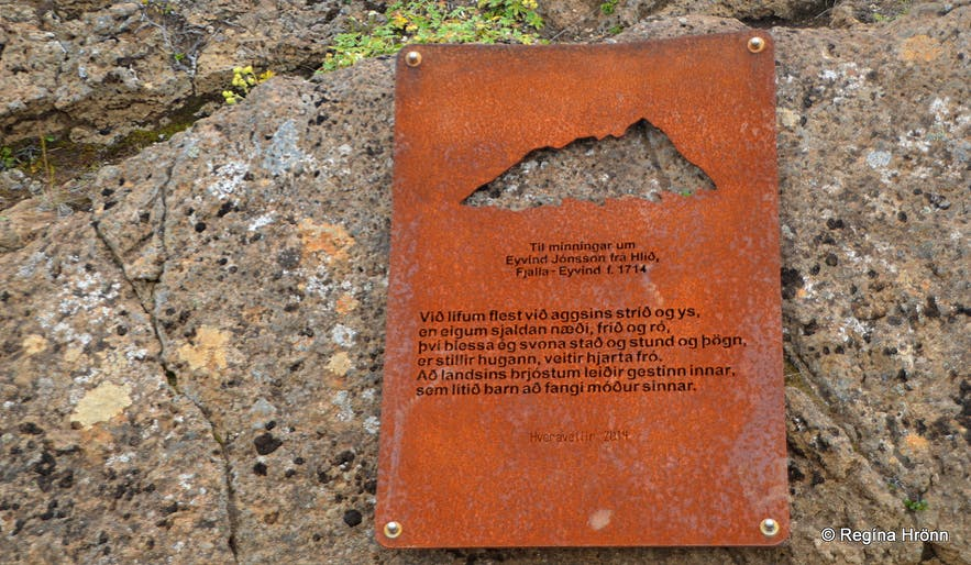 Memorial plaque at Hveravellir