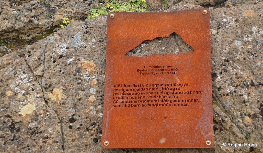 Memorial plaque at Hveravellir