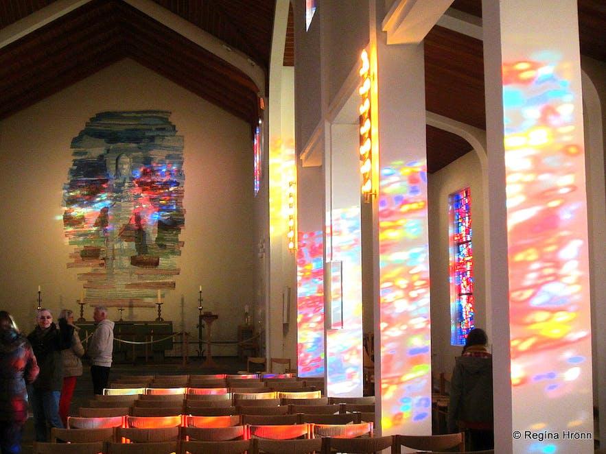 Inside Skálholt cathedral in southwest Iceland