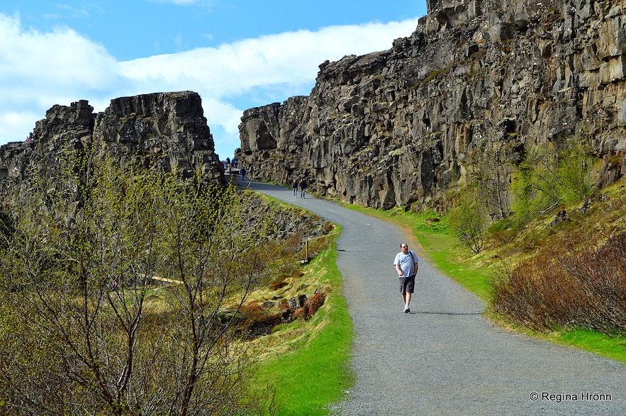 Almannagjá gorge Þingvellir national park
