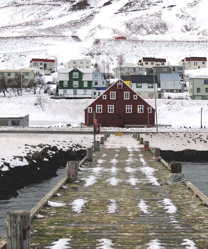 冰島小鎮景色