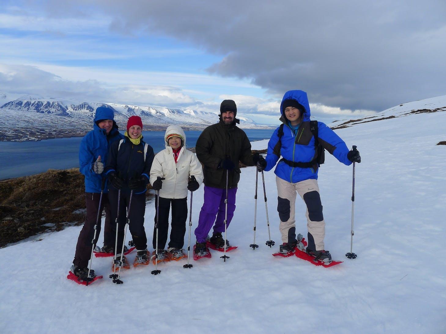 Snowshoe through the beautiful Icelandic nature.