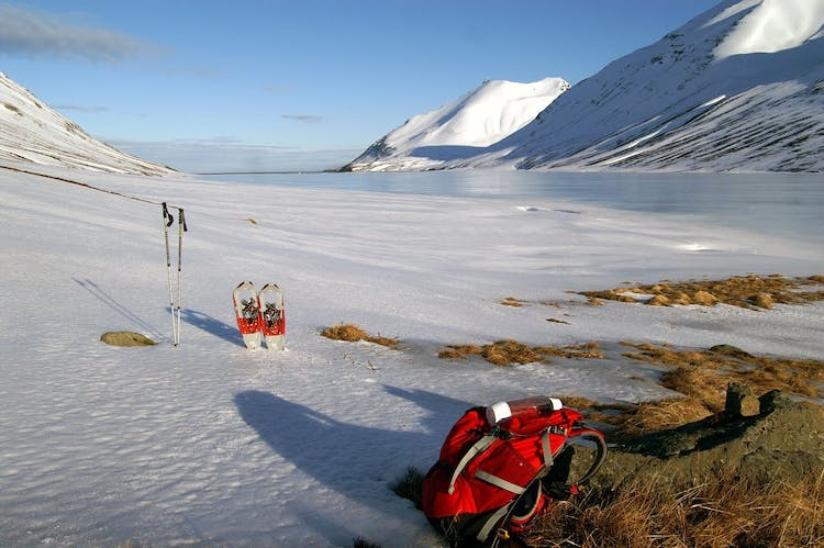 Snowshoes will make your hiking tour easier.
