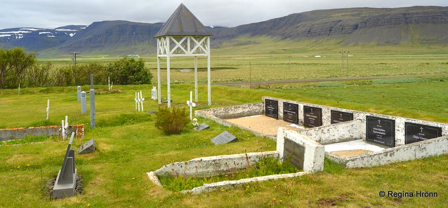 The grave-yard by Staðarhólskirkja church West-Iceland