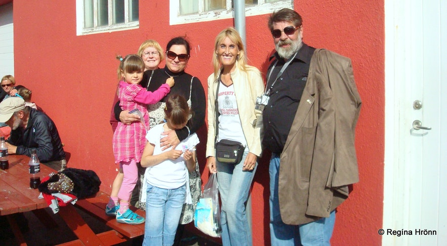 Fish day in Dalvík, north Iceland - Regína with relatives