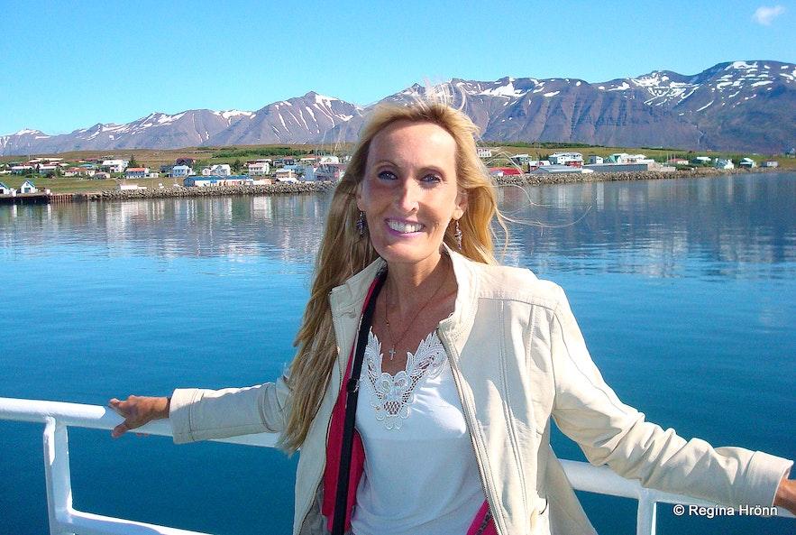 Regína Sailing to Hrísey, the Pearl of Eyjafjörður