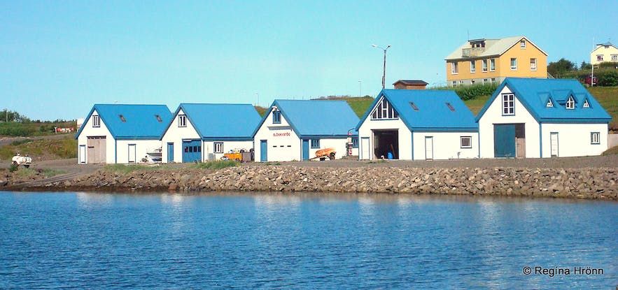 Houses in Hrísey, north Iceland