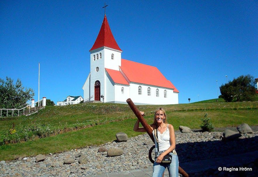 The church in Hrísey