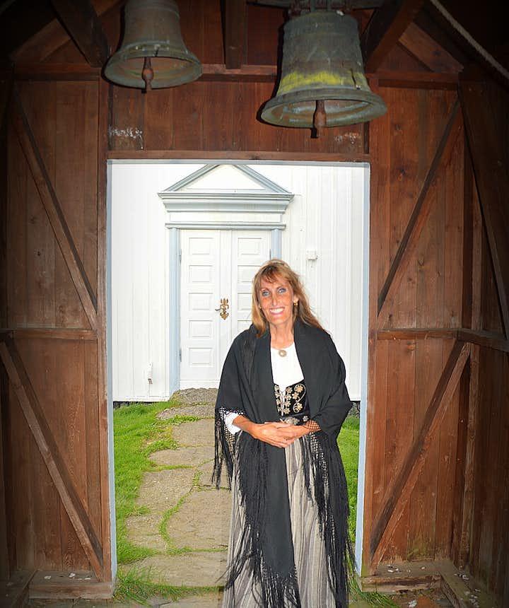 Regína at the majestic Grenjaðarstaður Turf House in North-Iceland