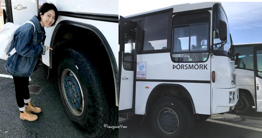 冰島中央高地巴士巨大的車輪