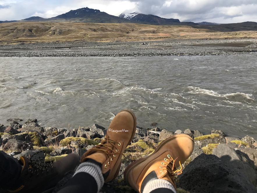 冰島中央內陸高地索斯莫克Thorsmork 山谷河流