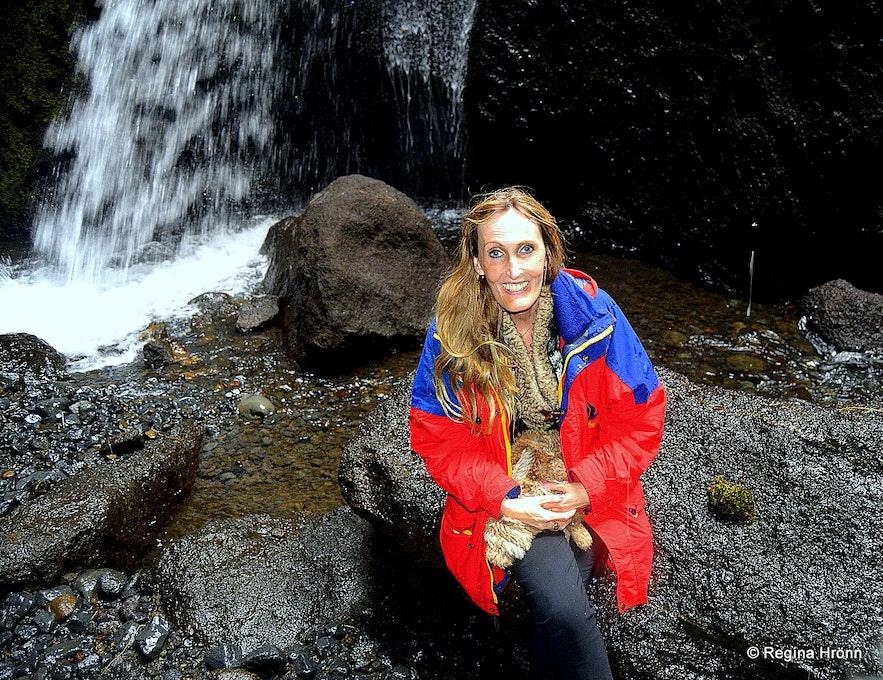Regína in Stakkholtsgjá Canyon in South-Iceland