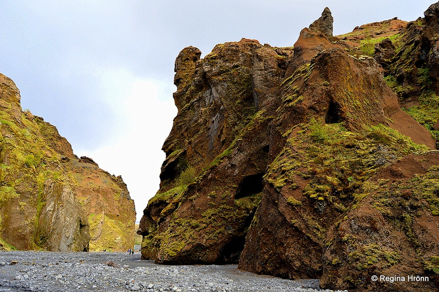 Stakkholtsgjá Canyon in South-Iceland