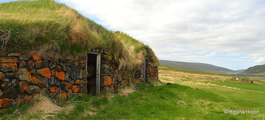 Þverá Turf House outhouses in North-Iceland