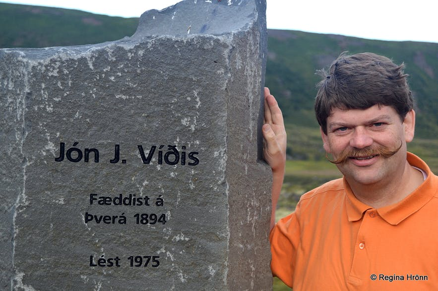 The memorial for Jón J. Víðis in Laxárdalur N-Iceland