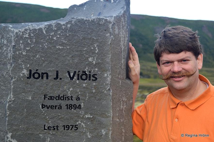 The memorial for Jón J. Víðis in Laxárdalur N-Iceland
