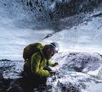Wycieczka do jaskini lodowej z Vik, na południu Islandii