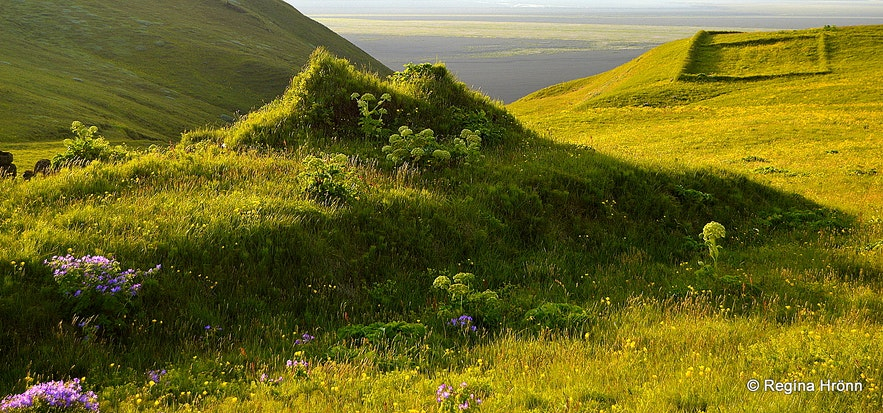 Hjörleifshöfði South-Iceland - ruins
