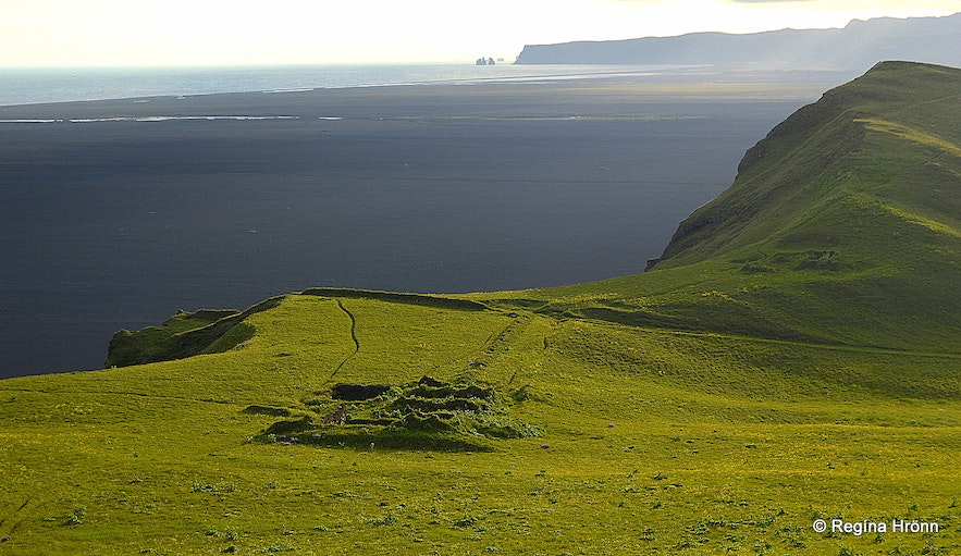 The view from the top of Hjörleifshöfði cape South-Iceland