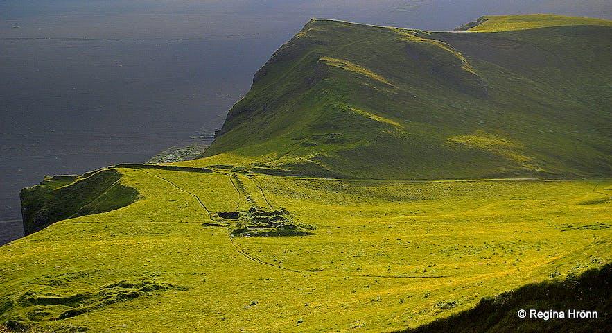 On top of Hjörleifshöfði South-Iceland
