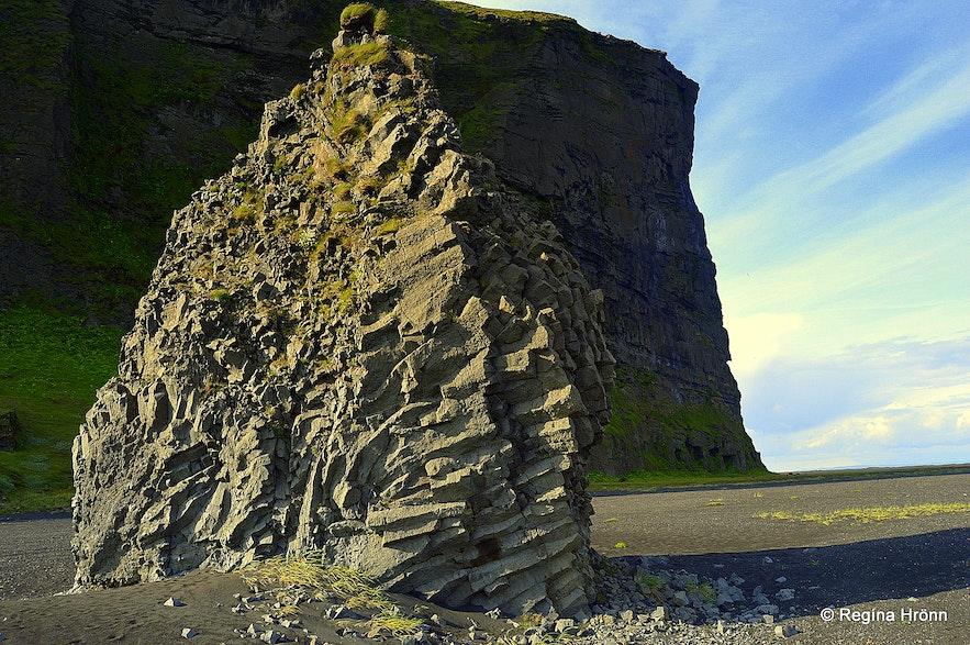 Pillars of rock by Hjörleifshöfði