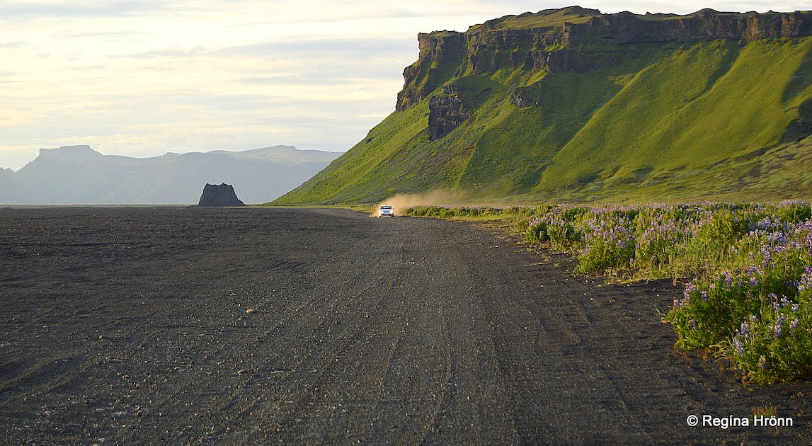 Katla Volcano and Kötlutangi Spit - the Southernmost Point of the