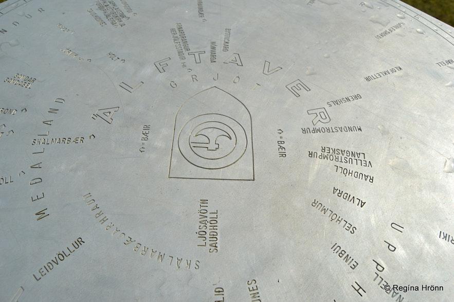 Álftaversgígar pseudocraters view-dial South-Iceland