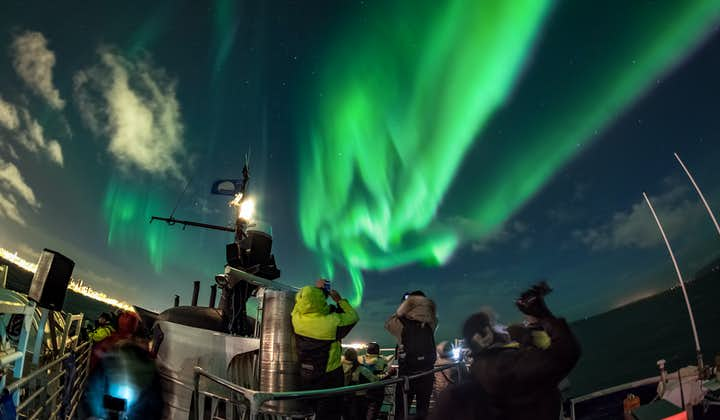Magical 2 Hour Northern Lights Boat Cruise with Transfer from Reykjavik