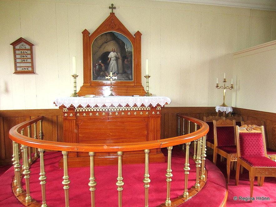Inside Möðruvallakirkja church in Hörgárdalur