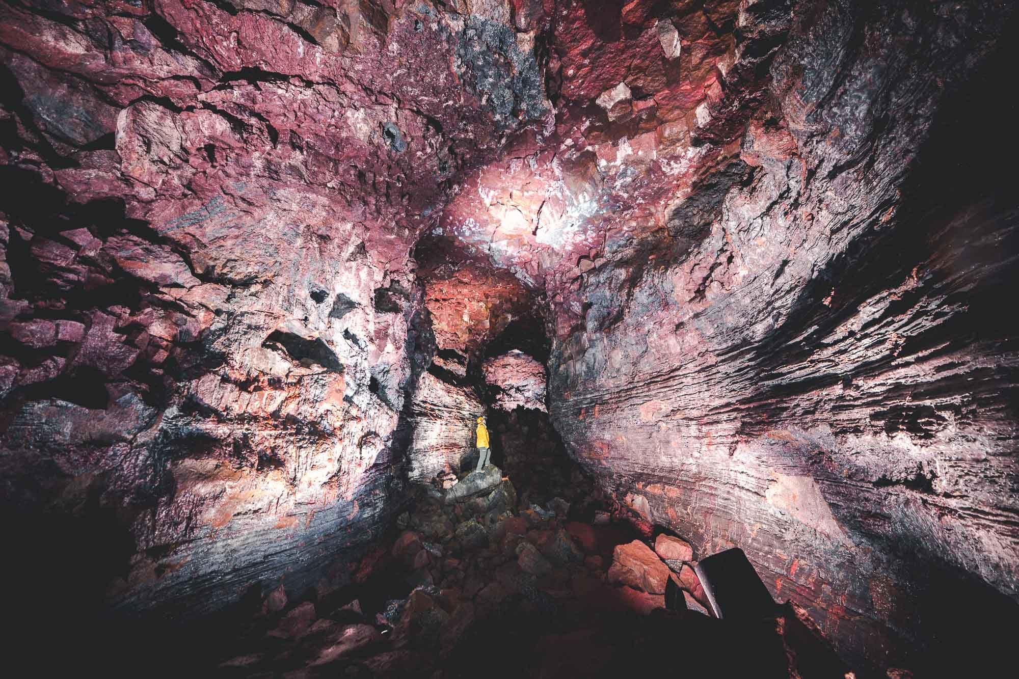 Raufarhólshellir Lava cave, locate don the Reykjanes Peninsula, South-West Iceland.