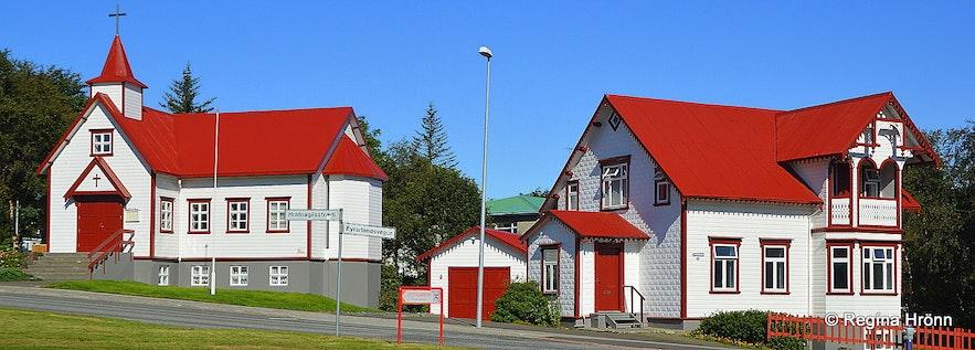 Akureyri town - the catholic church Péturskirkja