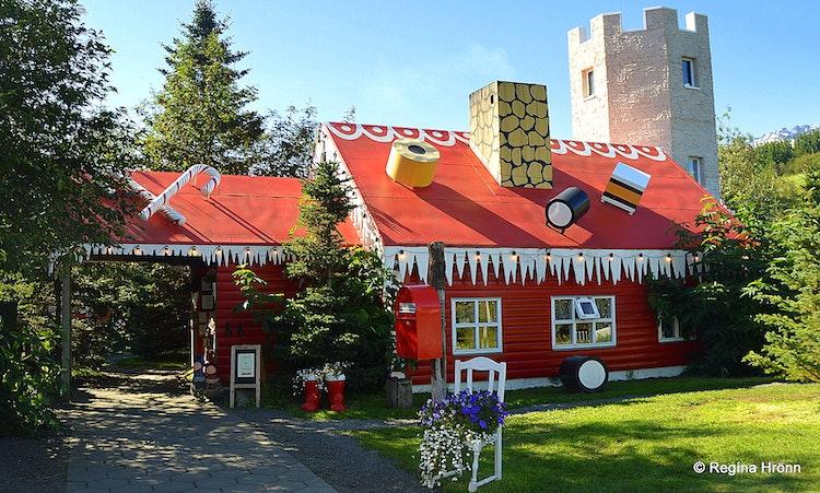 Christmas House.Eyjafjordur Fjord The Christmas House Jolahusid Is