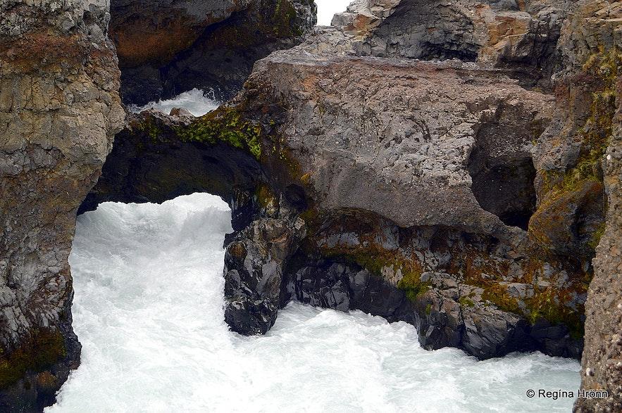 Barnafoss waterfall West Iceland