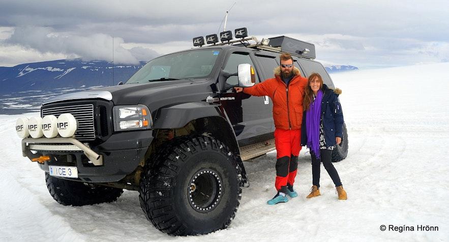 Regína in A modified super jeep