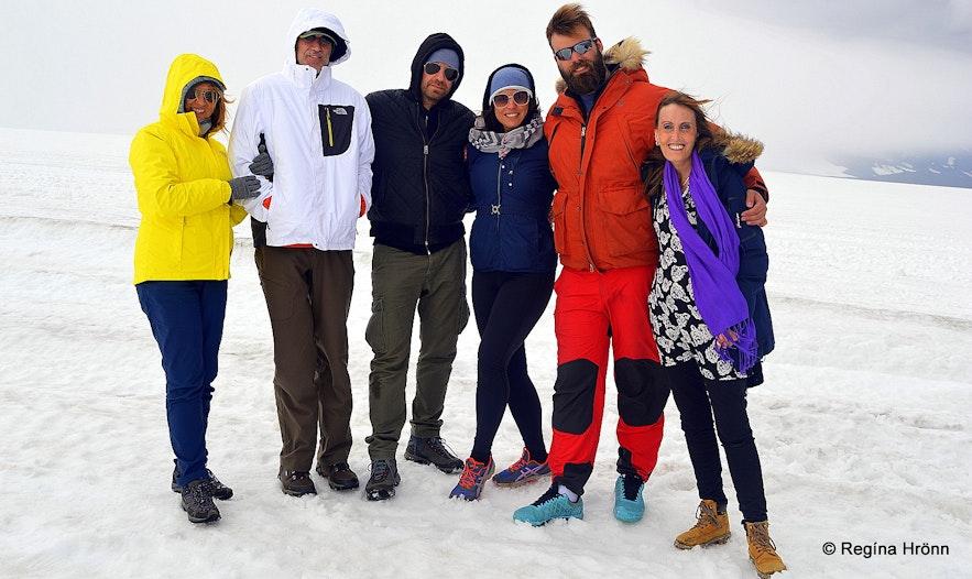The group on Langjökull glacier