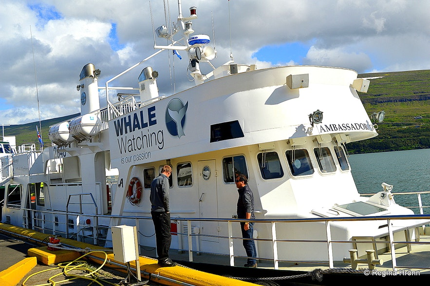 The Whale watching boat from Akureyri