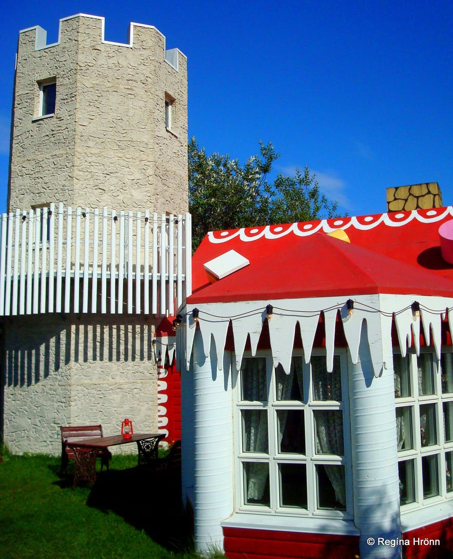 The Tower that belongs to the Christmas House in North Iceland