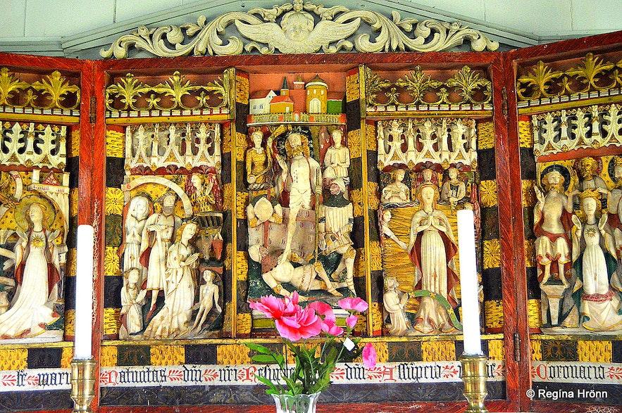 Möðruvallakirkja church - triptych