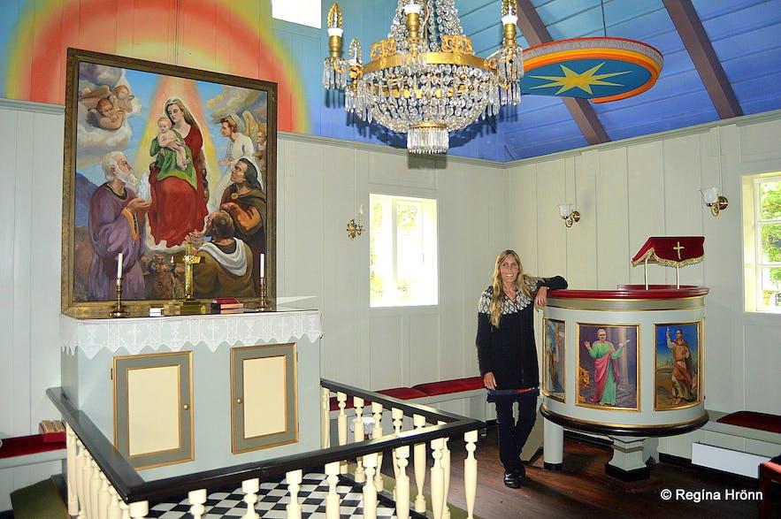 Regína at Munkaþverárkirkja church