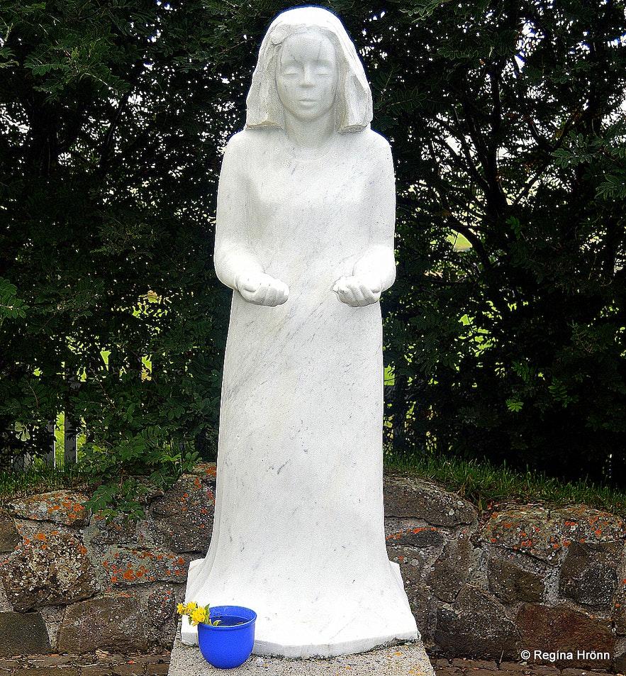 A statue of Virgin Mary at Munkaþverá