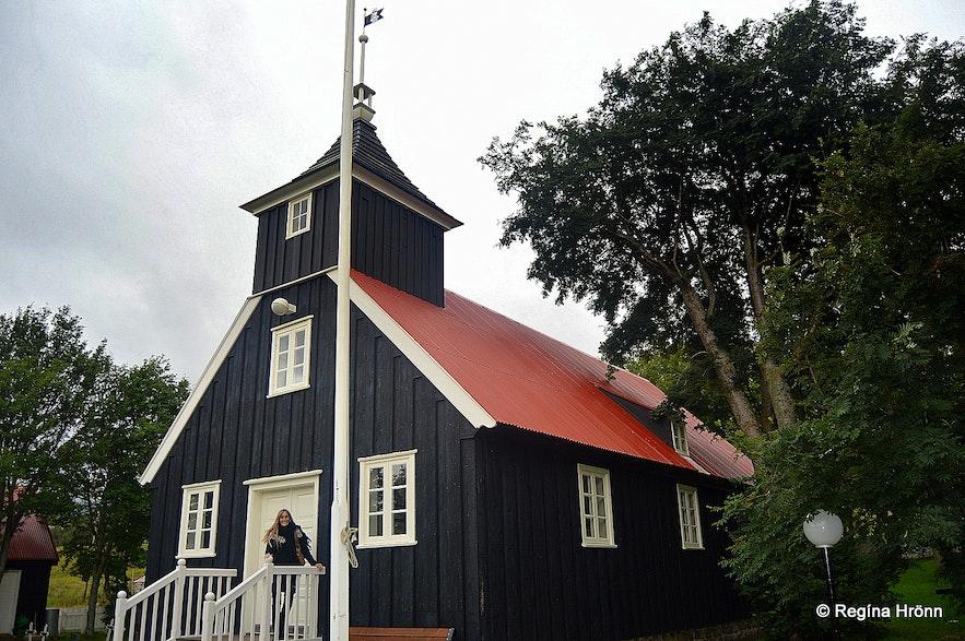 Regína by Munkaþverárkirkja church Eyjafjörður