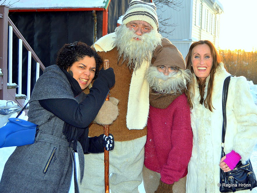 With the Yule Lads at Árbæjarsafn folk museum in Reykjavík