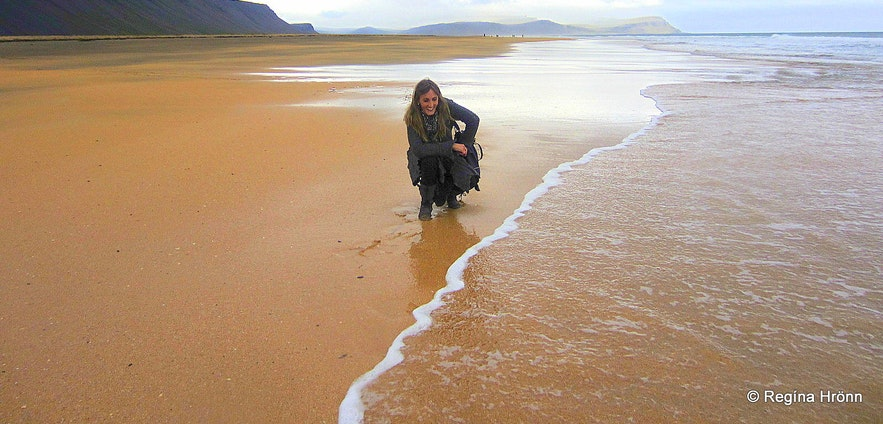Rauðisandur beach in the Westfjords of Iceland