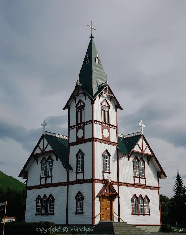 胡萨维克小镇的美景