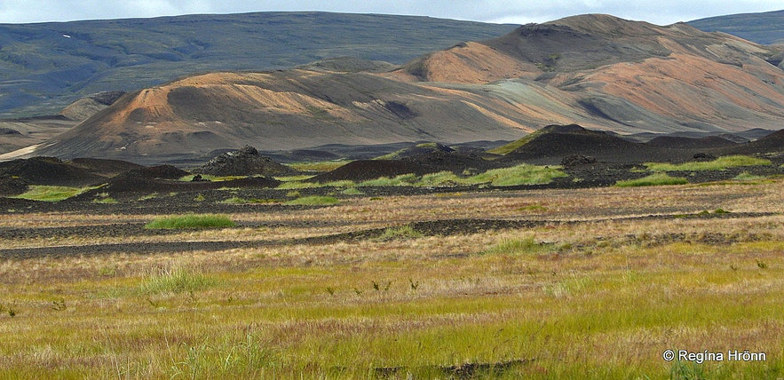 pseudocraters can be found is in Þjórsárdalur valley upcountry in South-Iceland